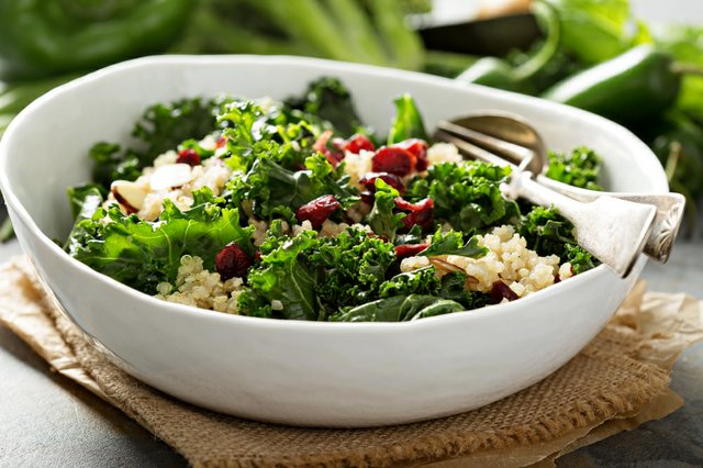 Healthy kale and quinoa salad