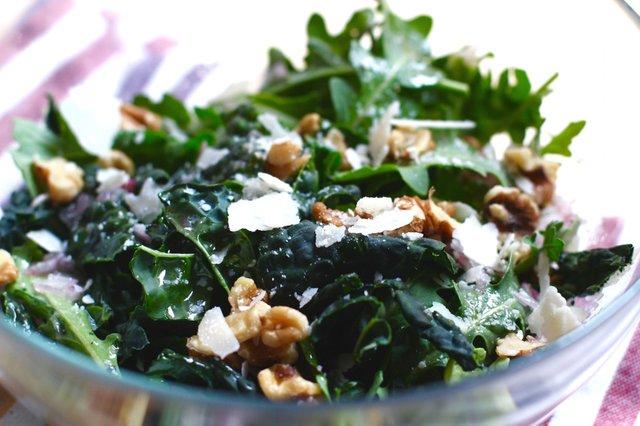 Kale salad dressed