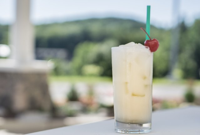 courtyard cocktail coconut collins