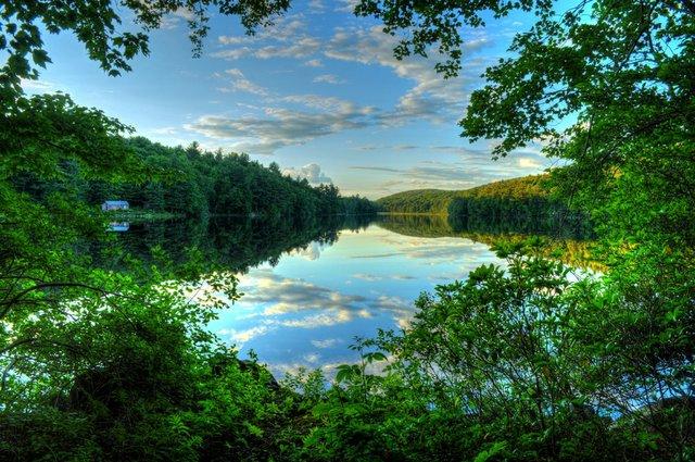 Berkshires lake summertime